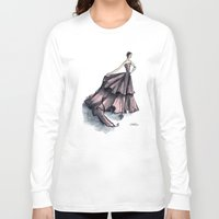 givenchy Long Sleeve T-shirts featuring Audrey Hepburn in Pink dress vintage fashion by Notsniw