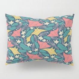Manta Ray And Fish Pattern Pillow Sham