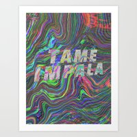 tame impala Art Prints featuring TAME IMPALA by Blaz Rojs