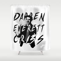 glee Shower Curtains featuring Darren Criss by kltj11