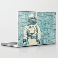 diver Laptop & iPad Skins featuring Diver by Alli Coate