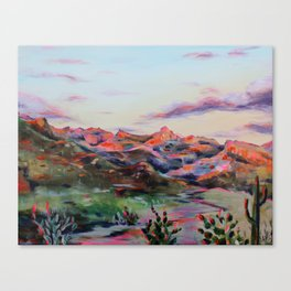 Tucson Sunset by the Catalina foot hills - Thimble peak Canvas Print