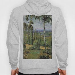 The Countryside In The Vicinity Of Conflans Saint Honorine 1874 By Camille Pissarro | Reproduction | Hoody