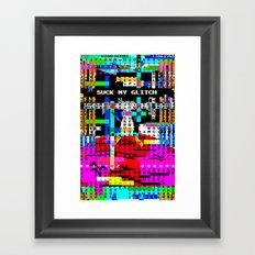 Suck my Glitch Framed Art Print