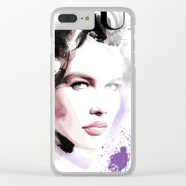 Vogue Fashion Illustration #10 Clear iPhone Case