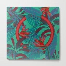 Blue Jungle Metal Print