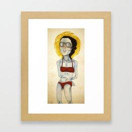 Icy Hot Framed Art Print