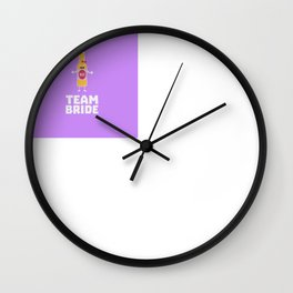 Team Bride Beerbottle B5s42 Wall Clock