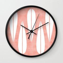 Make Mine MCM Pink Wall Clock