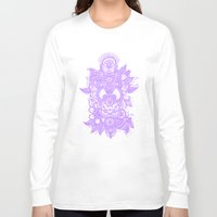 henna Long Sleeve T-shirts featuring Purple Henna by haleyivers
