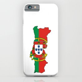Portugal Map with Portuguese Flag iPhone Case