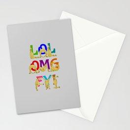 Cute Ponies LOL OMG FYI Stationery Cards