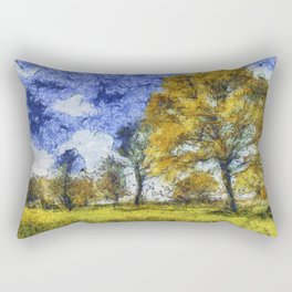 Summer Farm Van Gogh Rectangular Pillow