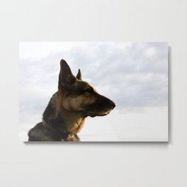 German Shepherd Dog Profile Metal Print