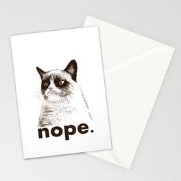 NOPE - Grumpy cat. Stationery Cards