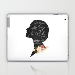 She is Clothed in Strength and Dignity Laptop & iPad Skin