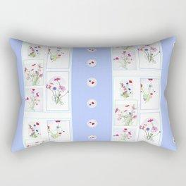 Spring Wildflowers Vertical Repeat Rectangular Pillow