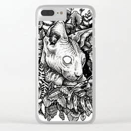 [sphynx.] [me hard.] Clear iPhone Case