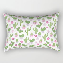 Cacti Tea Party Rectangular Pillow