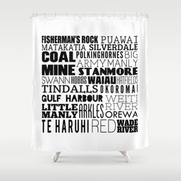 Hibiscus Coast - Version Four Shower Curtain