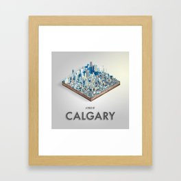 Piece Of Calgary Isometric Art Framed Art Print