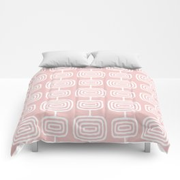 Mid Century Modern Atomic Rings Pattern 731 Dusty Rose Comforters