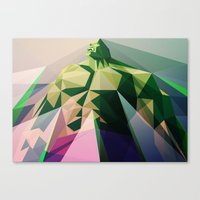 wallet Canvas Prints featuring Mad Man by Liam Brazier