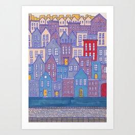 Pretty City II Art Print