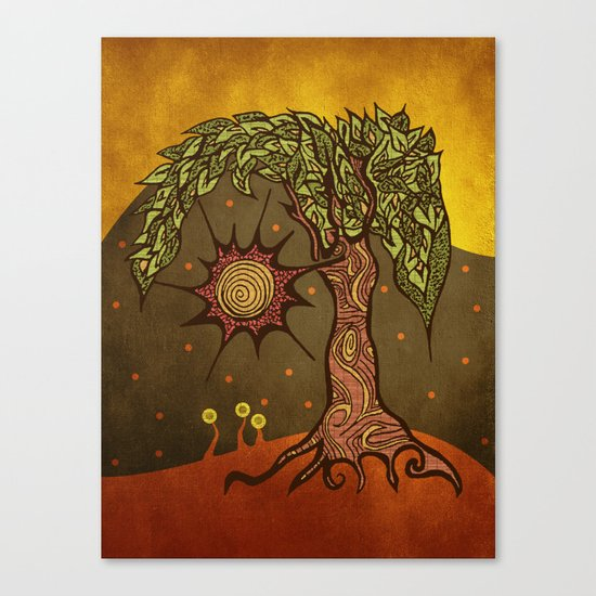 "Mystic tree Dia by Pom Graphic Design & Viviana Gonzalez"" Canvas Print"