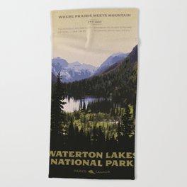 Waterton Lakes National Park Beach Towel