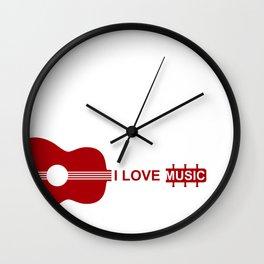 I love music #society6 #decor #buyart #artprint Wall Clock