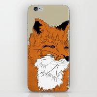 mr fox iPhone & iPod Skins featuring Mr Fox by Simone Clark