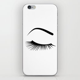 Closed Eyelashes Right Eye iPhone Skin