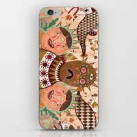 surrealism iPhone & iPod Skins featuring Folk Surrealism by CrazyMavis