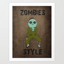 zombies style Art Print