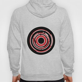 Red Black Circular Abstract Background Hoody