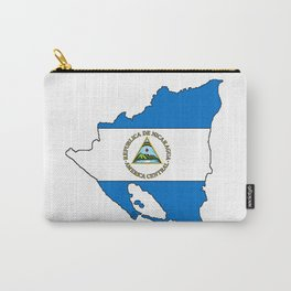 Nicaragua Map with Nicaraguan Flag Carry-All Pouch