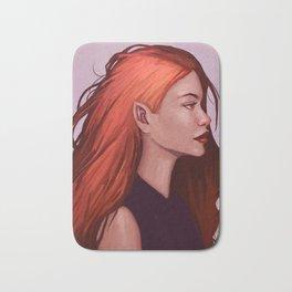 Red Hair Bath Mat