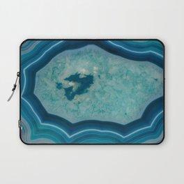 Blue agate slice Laptop Sleeve