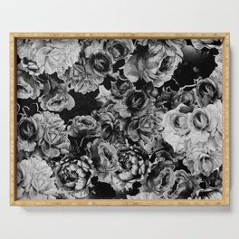 Black Roses Serving Tray