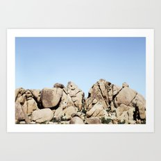 Rocks in Joshua Art Print