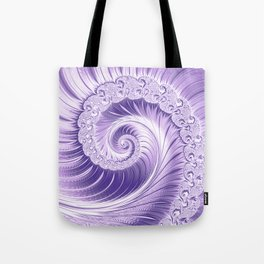Ultra Violet Luxe Spiral Pattern | Trendy Color of the Year 2018 Tote Bag