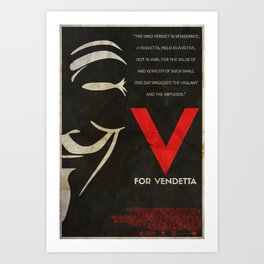 They Should Be Afraid - Vendetta Poster Art Print