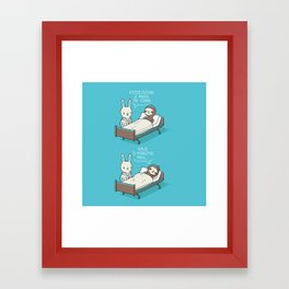 5 minutos más Framed Art Print