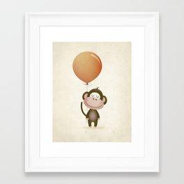 Monkey Print Framed Art Print