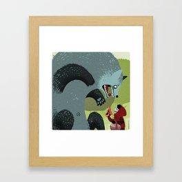 Little Red Riding Hood Revenge Framed Art Print