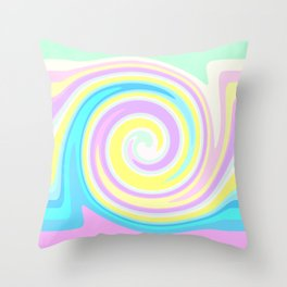 Bright abstract spiral Throw Pillow