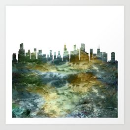 Chicago Skyline Illinois Art Print