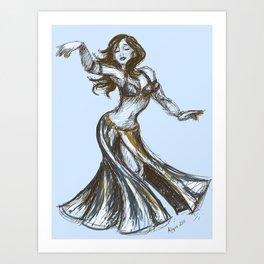 Vintage Belly Dancer Art Print
