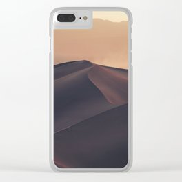 Poetic Sand Mountains Desert (Color) Clear iPhone Case